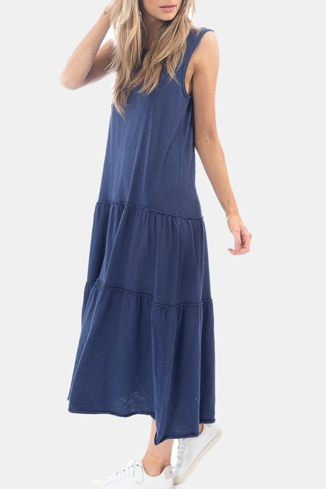 Dylan by True Grit Tiered Crew Dress - Front Full Image