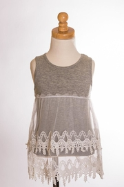 ML Kids Tiered Crochet Tank - Front cropped