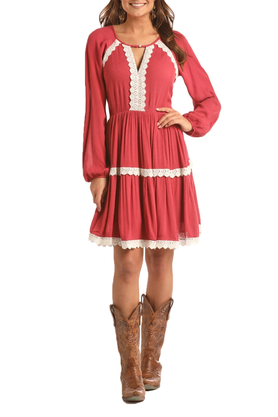 Rock and Roll Tiered Dress - Main Image