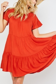 Lyn -Maree's Tiered Easy Going Dress - Front cropped