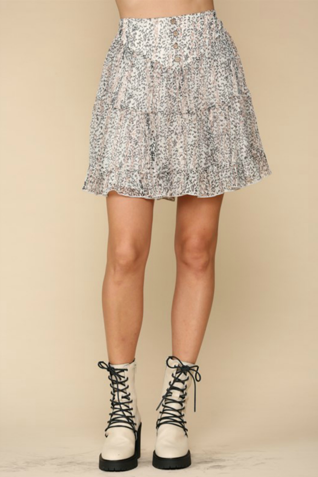 By Together  tiered flirty skirt - Main Image