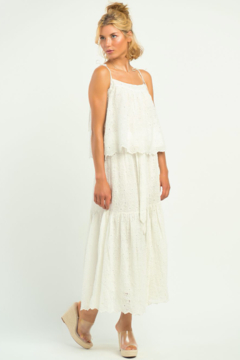 Dex TIERED FLORAL EYELET SKIRT - Product List Image