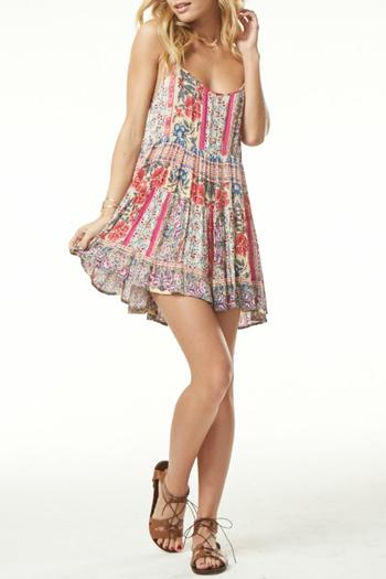 fd8645841f89e Poe and Arrows Tiered Floral Print Dress from Texas by POE and Arrows —  Shoptiques
