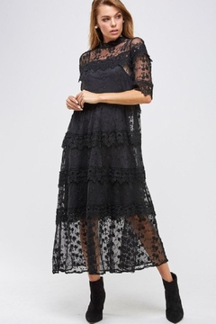 Solution Tiered Lace Dress - Alternate List Image