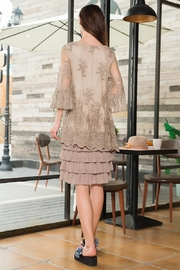 sassy Bling Tiered Lace Dress - Front full body