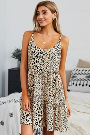 Shewin Tiered Leopard Babydoll Dress - Product Mini Image