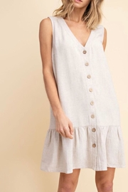 Mittoshop Tiered Linen Dress - Front cropped