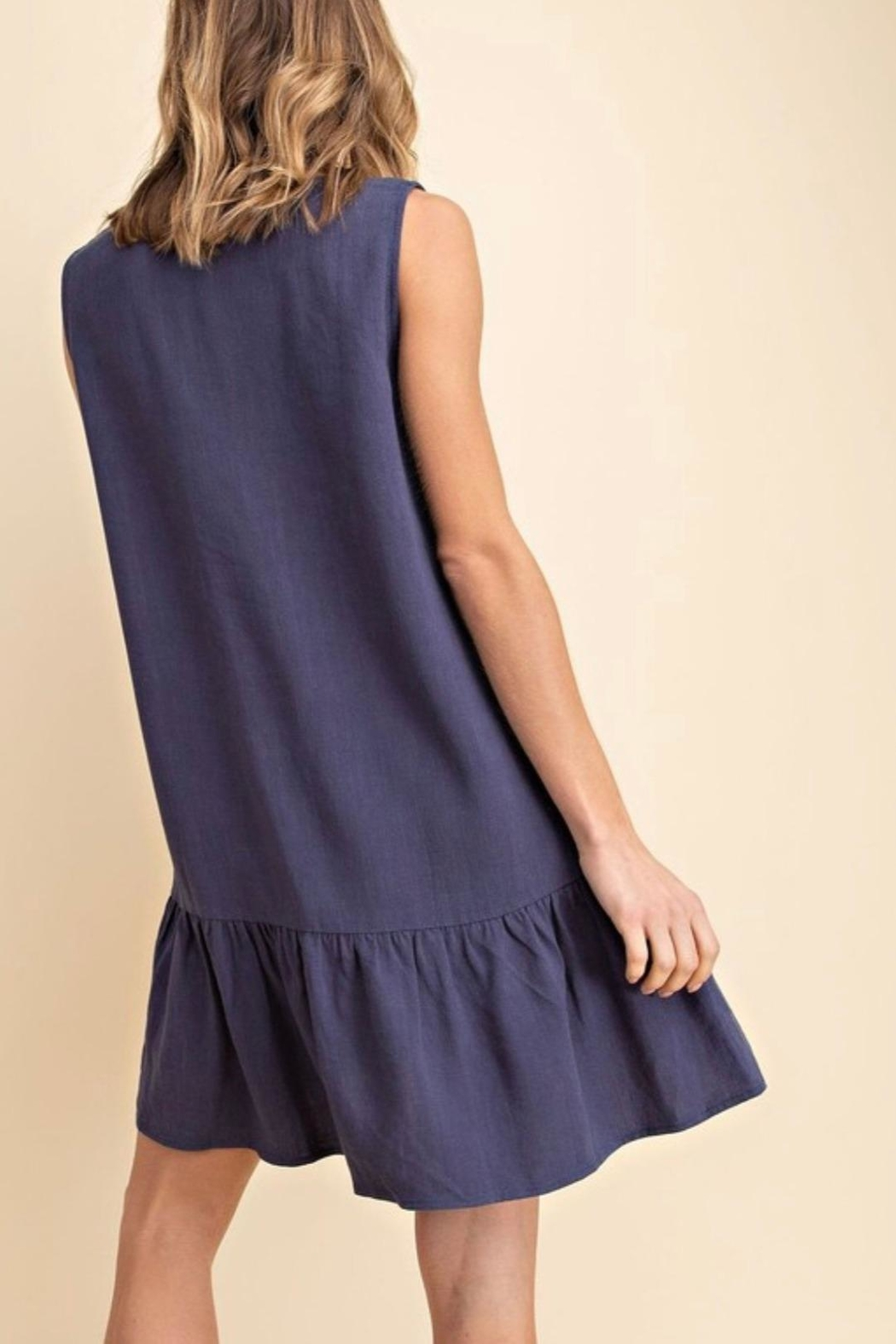 Mittoshop Tiered Linen Dress - Front Full Image