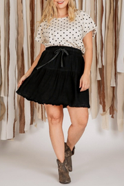 Umgee  Tiered Mini Skirt - Product Mini Image