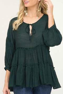 She + Sky Tiered Peasant Top - Product List Image