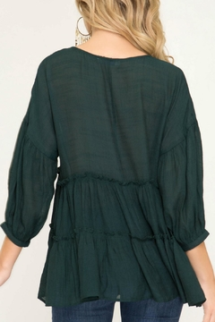 She + Sky Tiered Peasant Top - Alternate List Image