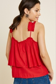 Hayden Tiered Pleated Strap Tank - Front full body