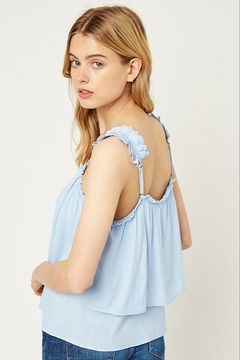 Hayden Tiered Pleated Strap Tank - Alternate List Image