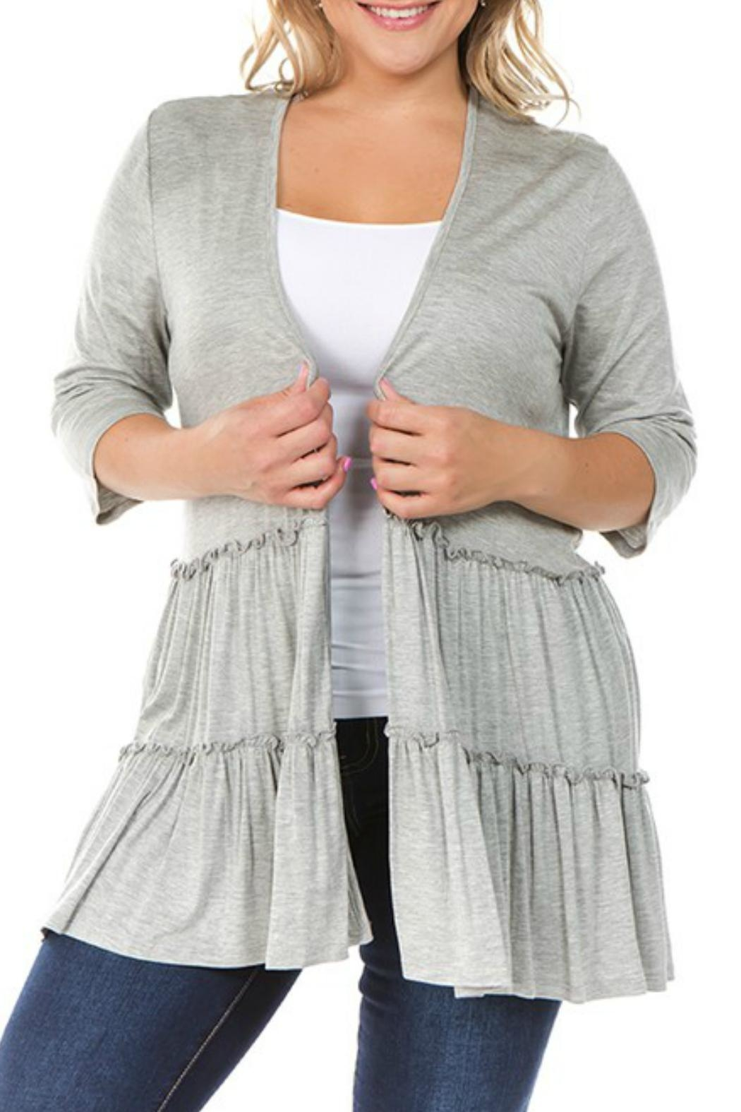 Spin USA Tiered Ruffle Cardigan - Main Image