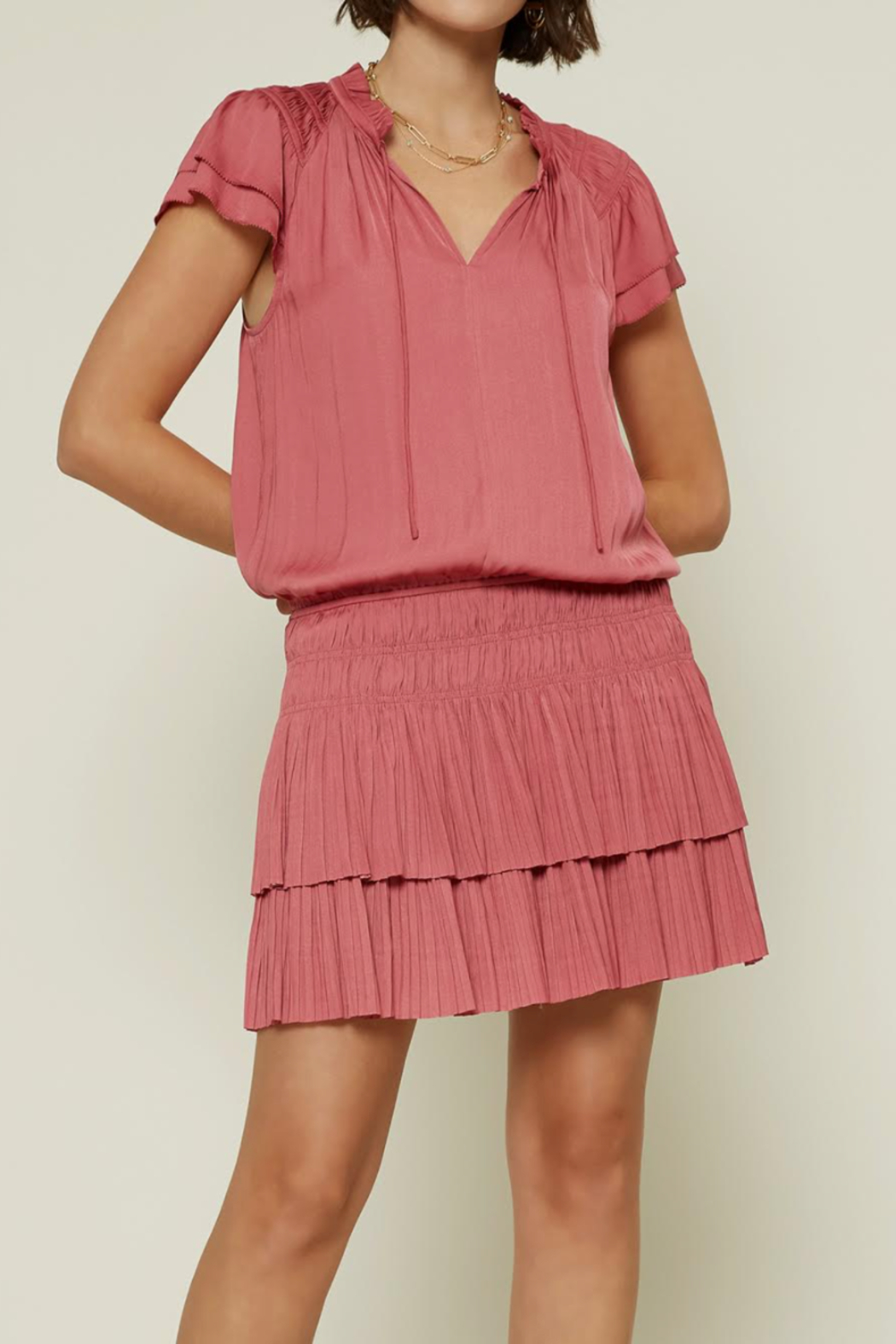 Current Air Tiered Ruffle Dress - Main Image