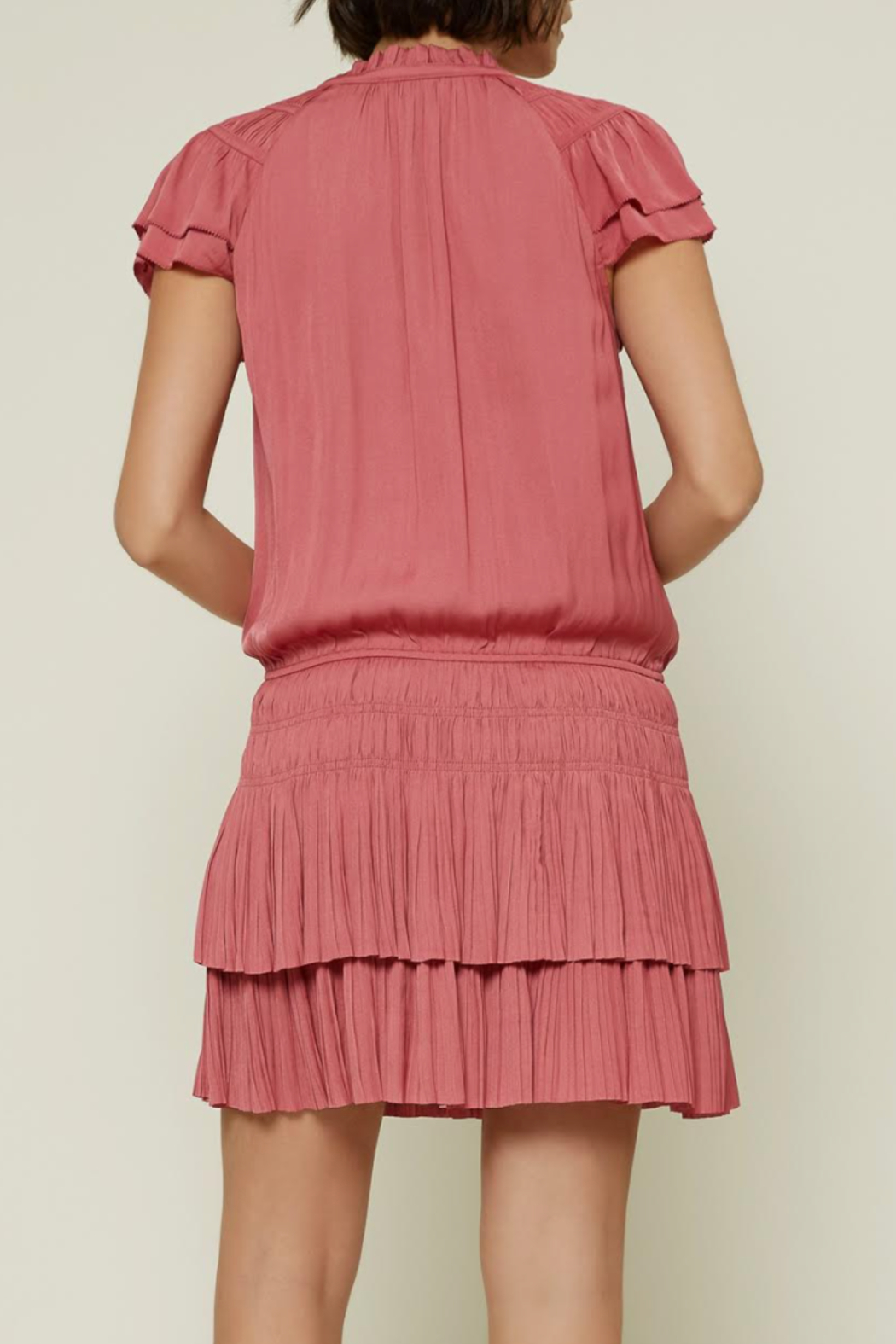 Current Air Tiered Ruffle Dress - Front Full Image