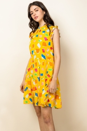 Thml Tiered Ruffle Printed Dress - Product Mini Image