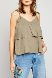 Hayden Los Angeles Tiered Ruffle Tank - Product Mini Image