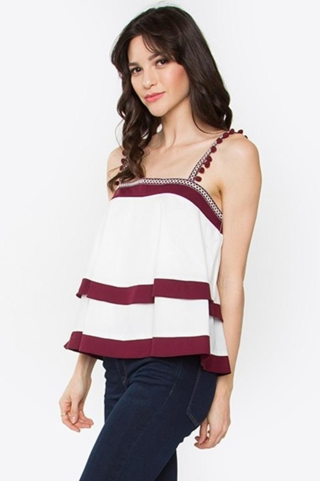 Sugar Lips Tiered Ruffle Top - Front Full Image