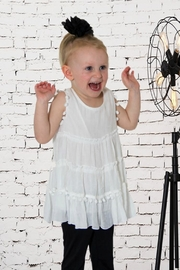 sassy Bling Tiered Ruffle Tunic - Front cropped