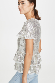 Endless Rose Tiered Sequin Blouse - Side cropped