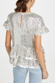 Endless Rose Tiered Sequin Blouse - Front full body