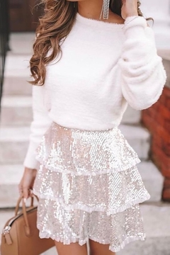 Endless Rose Tiered Sequin Skirt - Product List Image