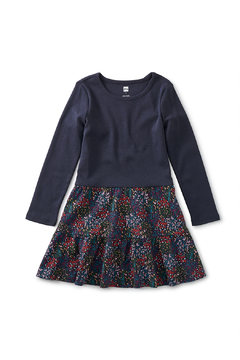 Shoptiques Product: Tiered Skirted Dress - Tradgard Floral In Black