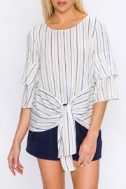 Flying Tomato Tiered Sleeve Blouse - Product Mini Image