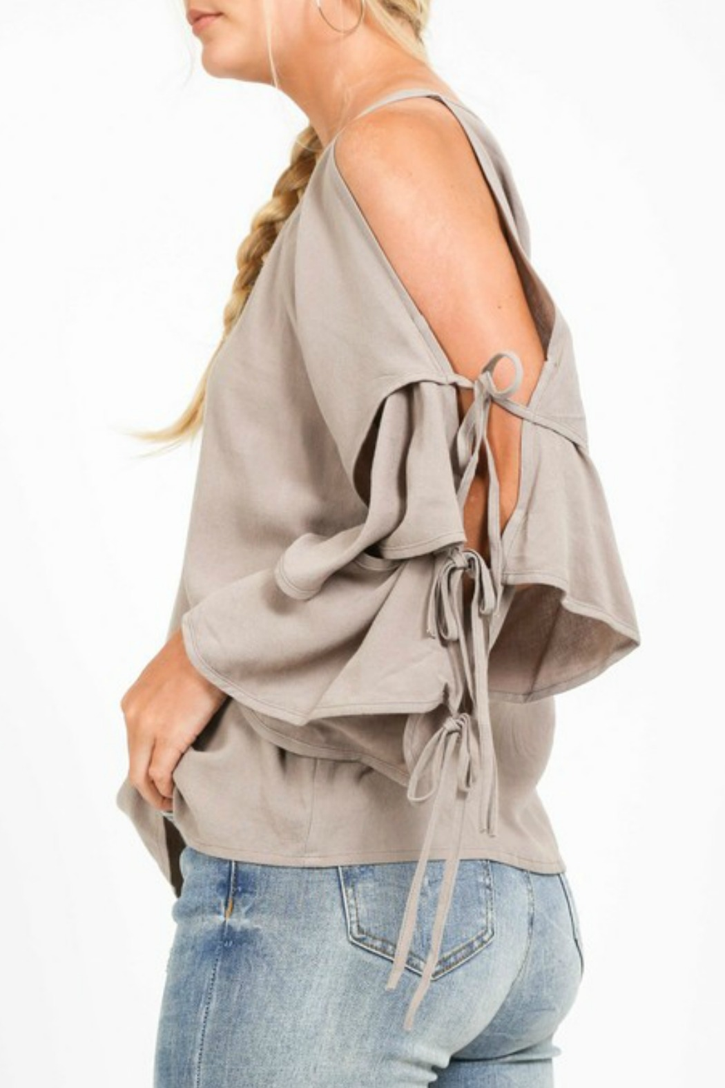 Very J Tiered Sleeve Top - Front Full Image