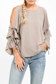 Very J Tiered Sleeve Top - Front cropped