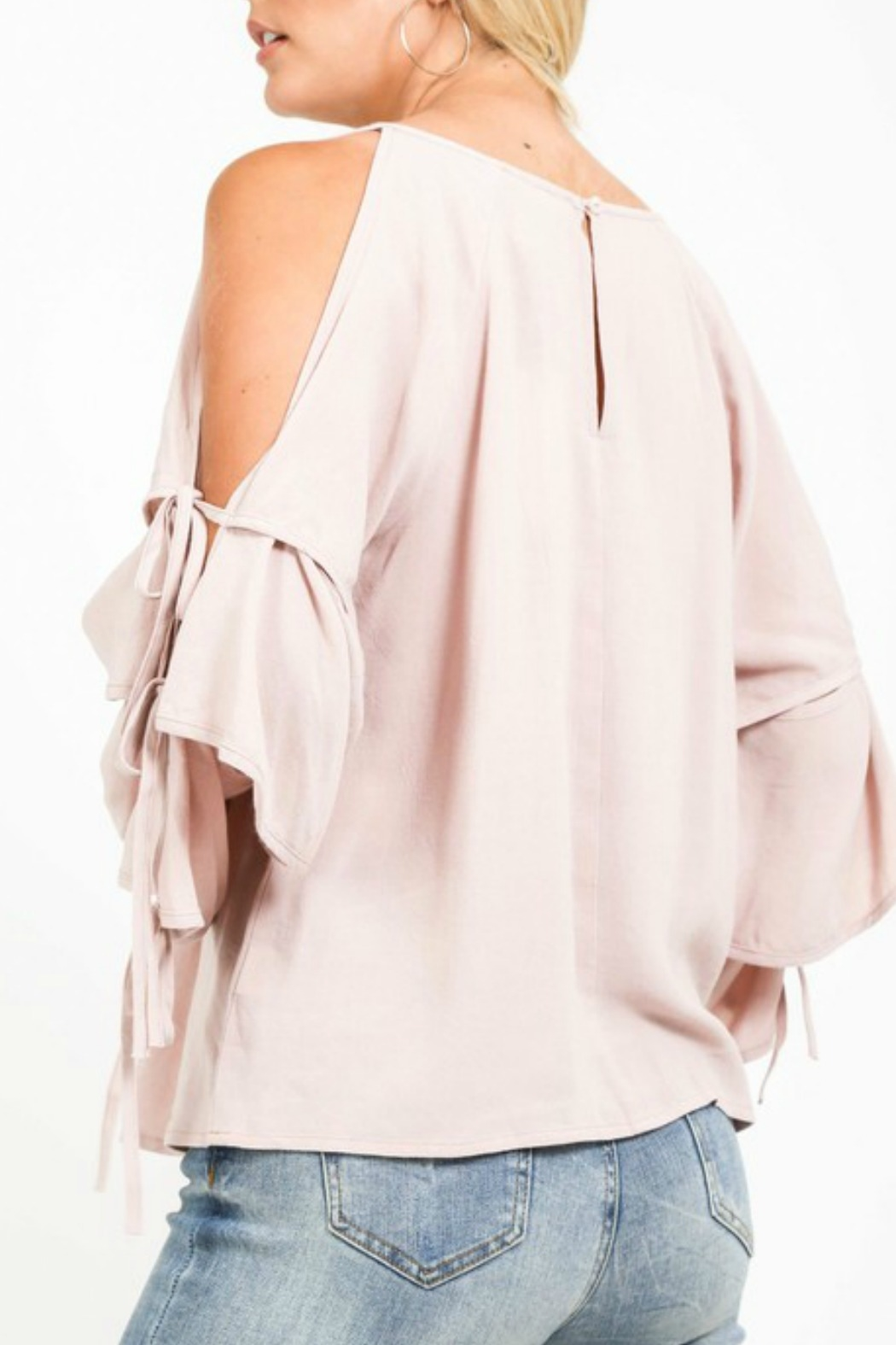 Very J Tiered Sleeve Top - Side Cropped Image