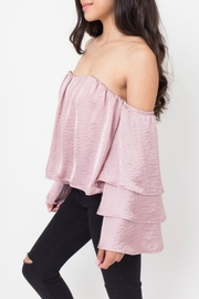 Dee Elly Tiered Sleeve Top - Product Mini Image