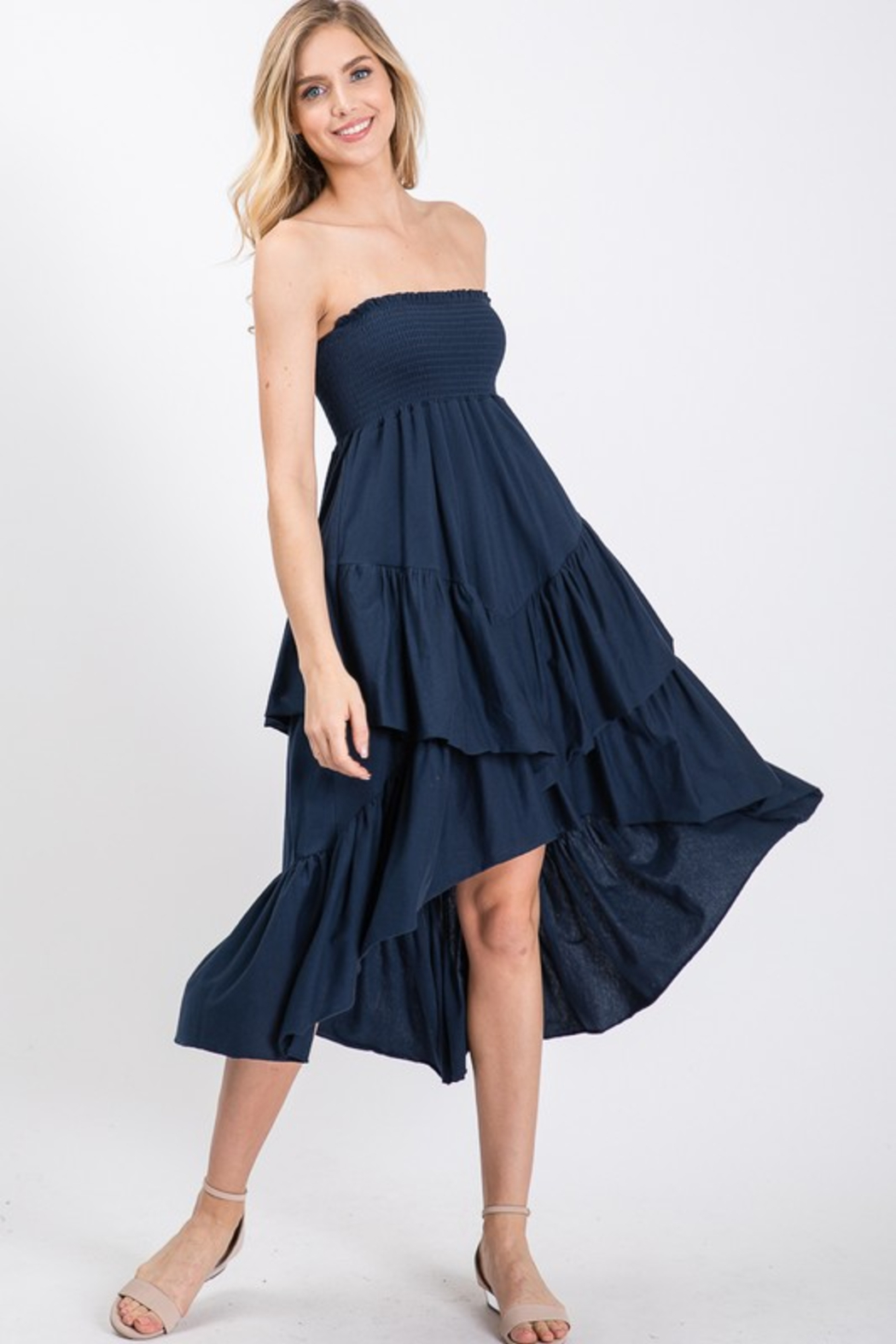 R+D Tiered Smock Dress - Main Image