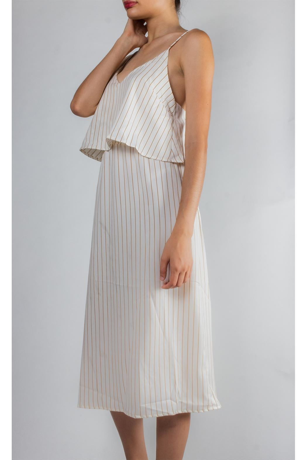 Emory Park Tiered Striped Dress - Front Full Image