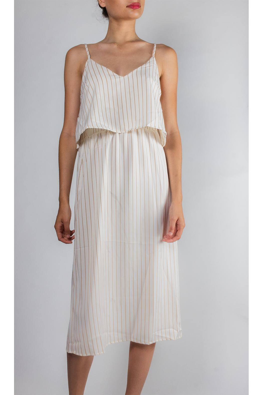 Emory Park Tiered Striped Dress - Main Image