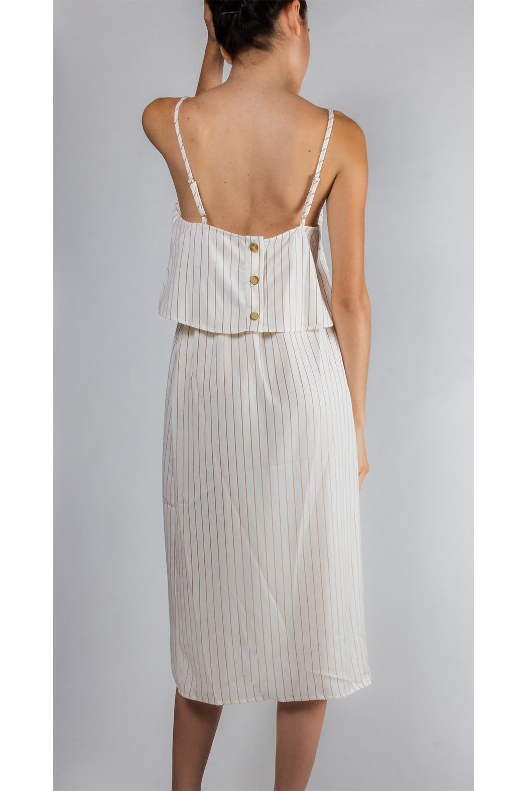 Emory Park Tiered Striped Dress - Side Cropped Image