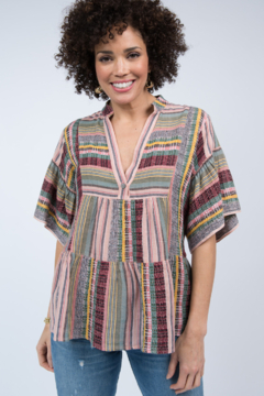 Ivy Jane Tiered Striped Top - Product List Image