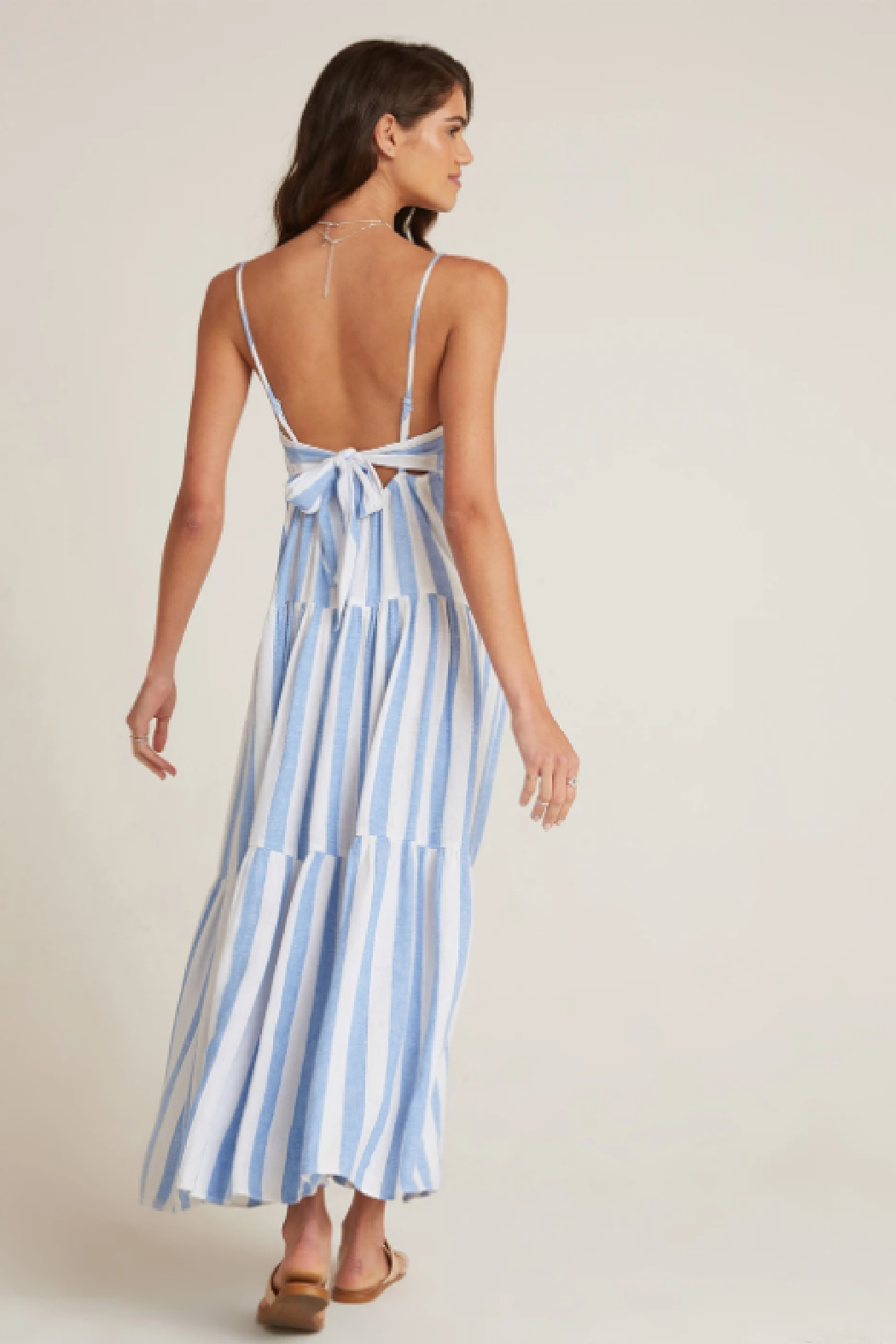 Bella Dahl  Tiered Tie Back Maxi - Side Cropped Image