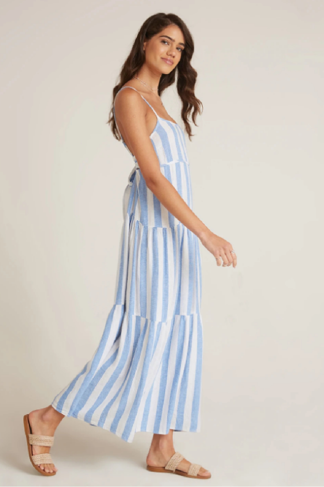 Bella Dahl  Tiered Tie Back Maxi - Front Full Image