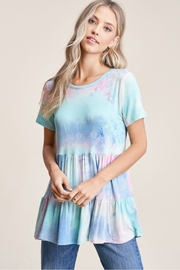 Staccato Tiered Tie Dye Babydoll - Product Mini Image