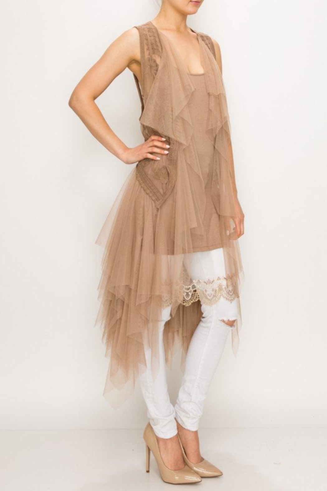 Origami Tiered Tulle Vest - Main Image