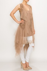 Origami Tiered Tulle Vest - Front cropped