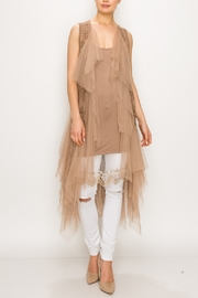 Origami Tiered Tulled Vest - Front cropped
