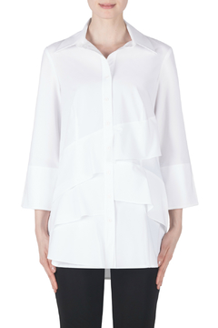 Shoptiques Product: Tiered White Blouse w 3/4 Sleeves