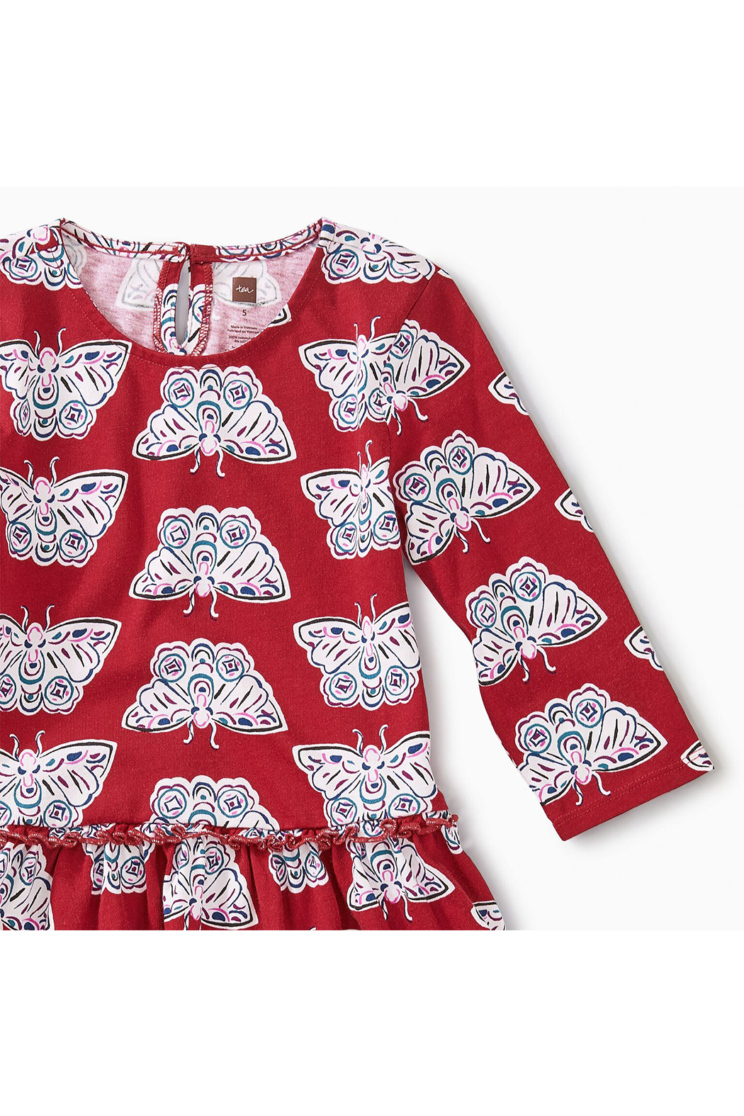 Tea Collection Tiered Winter Dress - Front Full Image