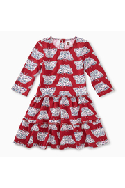 Tea Collection Tiered Winter Dress - Front cropped