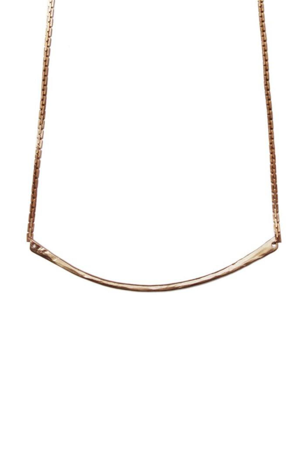 Tiffany Kunz Jewelry Bronze Bar Necklace - Front Cropped Image