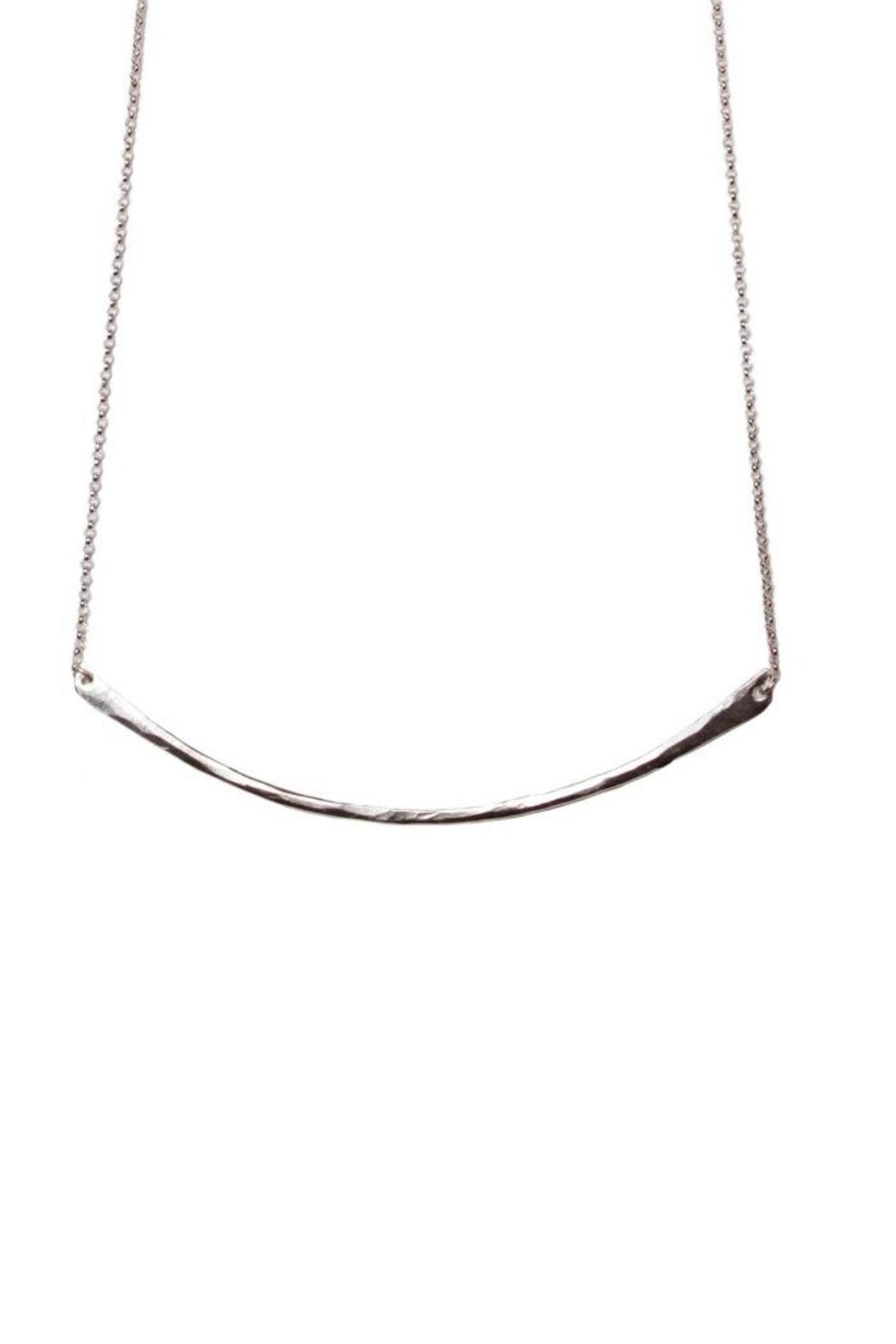 Tiffany Kunz Jewelry Silver Bar Necklace - Front Cropped Image