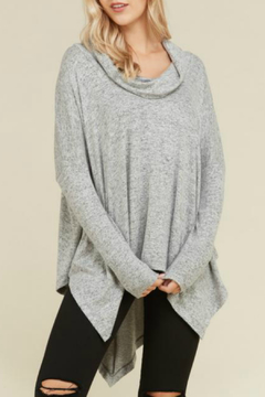 Shoptiques Product: Tiger Brushed Cowl Neck Top